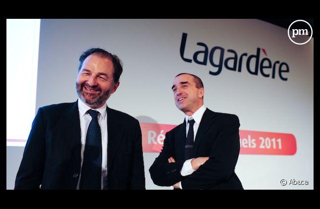 Denis Olivennes et Arnaud Lagardère