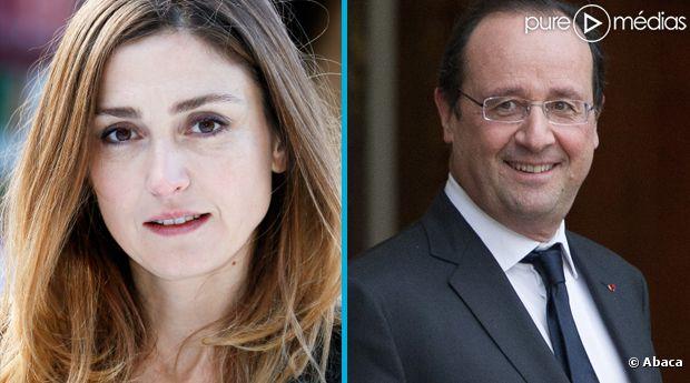 Julie Gayet et François Hollande, en 2013.