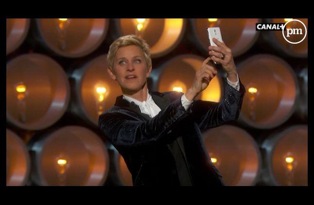 Le selfie d'Ellen DeGeneres lors de la soirée des Oscars.