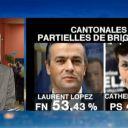 Sur France 2, Catherine Delzers est candidate PS et non UMP
