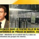 """Pour Manuel Valls version i-TELE, """"Manifester est un endroit"""""""