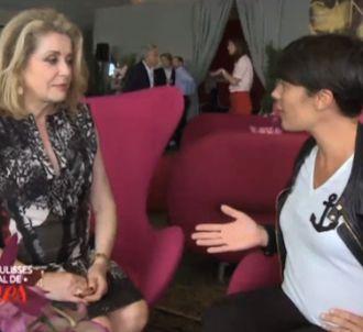 Alessandra Sublet et Catherine Deneuve à Cannes
