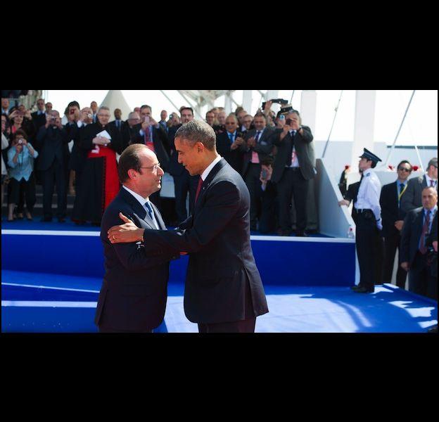 Barack Obama et François Hollande lors du 70e anniversaire du Débarquement