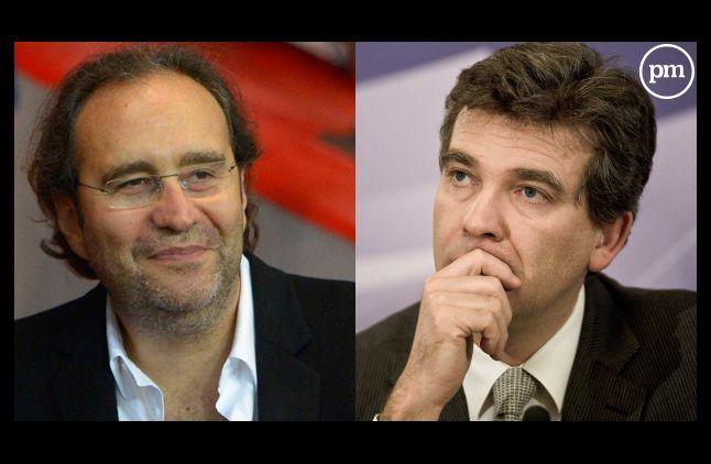 Xavier Niel, patron de Free et Arnaud Montebourg, ministre.