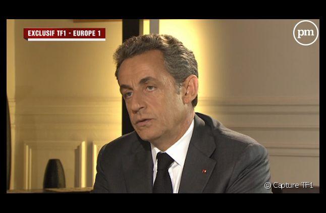 Nicolas Sarkozy, hier, au 20 Heures de TF1.