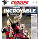 """Un match """"incroyable"""" pour """"L'Equipe"""""""