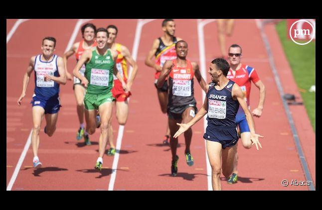 Mahiedine Mekhissi a gardé son maillot lors de sa victoire sur 1.500m.
