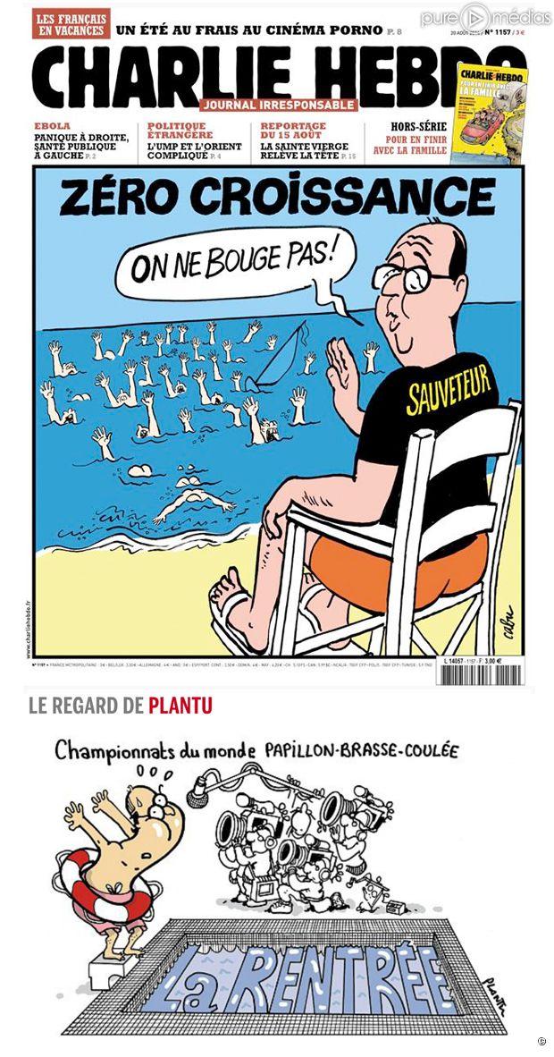 La Une de Charlie Hebdo et du Monde.