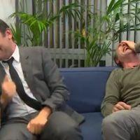 Fou rire interminable de Jean Dujardin et Gilles Lellouche à la télé belge