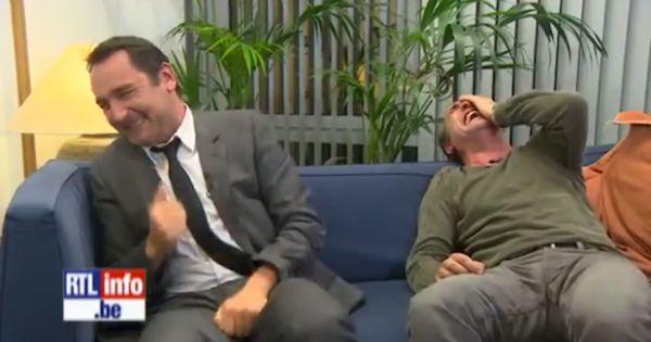 Fou rire interminable de jean dujardin et gilles lellouche for Dujardin rire