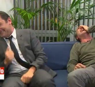 Jean Dujardin et Gilles Lellouche victime d'un gros fou rire