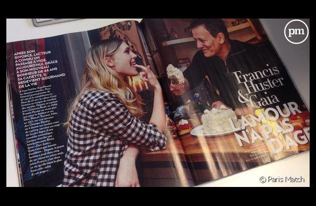 """Francis Huster et Gaia s'exposent cette semaine dans """"Paris Match""""."""