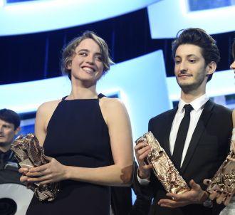 Adèle Haenel, Pierre Niney et Kristen Stewart lors de la...