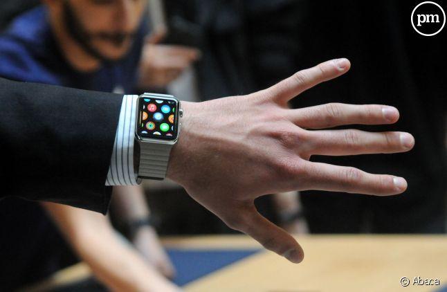 La montrée connectée d'Apple, lancée vendredi mais indisponible à l'achat dans la plupart des magasins.
