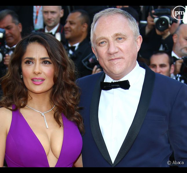 <span>Francois-Henri Pinault et sa femme Salma Hayek </span>