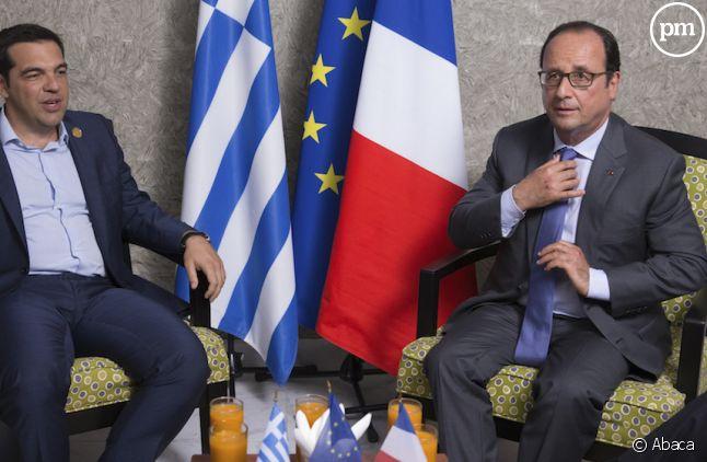 <span>Francois Hollande et Alexis Tsipra</span>