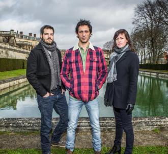 Clément Manuel, David Kammenos et Anne Caillon dans 'Falco'