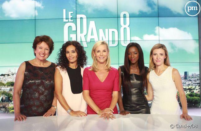 """L'équipe du """"Grand 8"""", sur D8."""