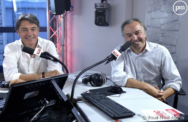 """Alain Marschall et Olivier Truchot présentent les """"Grandes Geules"""" sur RMC."""