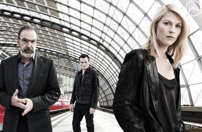 "Mandy Patinkin, Rupert Friend et Claire Danes dans ""Homeland"""