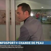 Un journaliste d'Infosport+ se prend une porte en pleine tête, fou rire sur le plateau