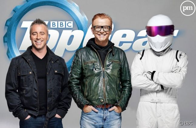 "Matt LeBlanc, Chris Evans et le Stig dans ""Top Gear"""