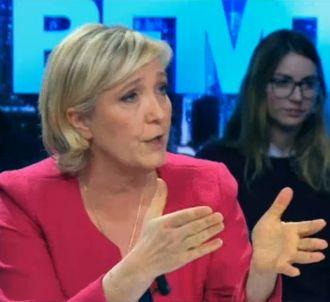 Marine Le Pen attaque BFM TV et RMC.