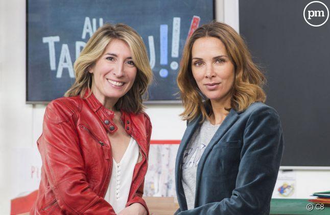 Caroline Delage et Mélissa Theuriau