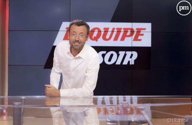 """Olivier Ménard, présentateur de """"L'Equipe du soir""""."""