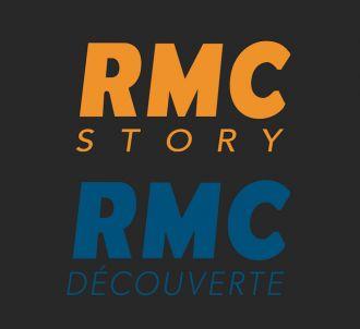 Logos de RMC Story et RMC Découverte