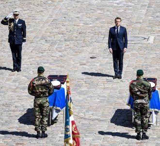 Emmanuel Macron aux Invalides le mardi 14 mai 2019