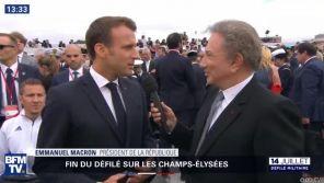 14 juillet : Quand Michel Drucker interviewe Emmanuel Macron sur... BFMTV