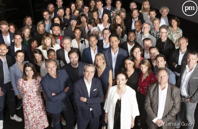 Animateurs et dirigeants de France Télévisions réunis pour la conférence de presse de rentrée