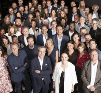Animateurs et dirigeants de France Télévisions réunis...