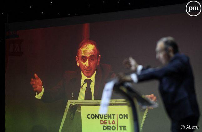 """Eric Zemmour lors de """"La convention de la droite"""", le 28 septembre 2019 à Paris."""