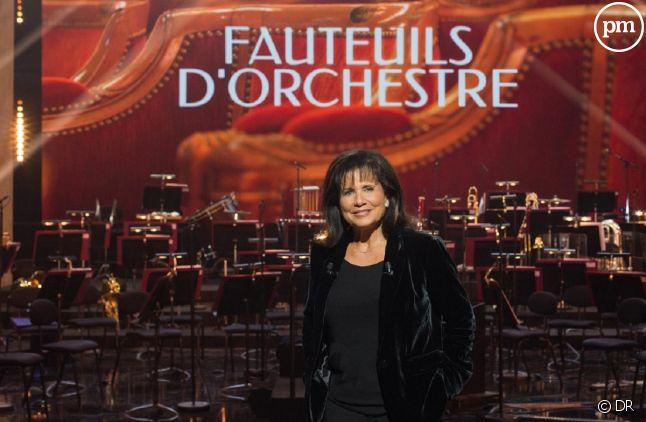 """Anne Sinclair présente """"Fauteuils d'orchestre"""" sur France 3"""