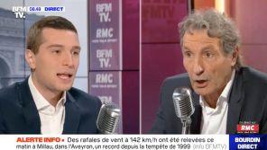 """""""Merci de me donner des leçons de journalisme"""" : Echange houleux entre Jean-Jacques Bourdin et Jordan Bardella sur RMC"""