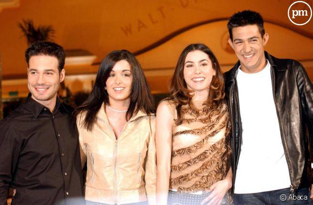 """Mario, Jenifer, Olivia et Jean-Pascal, participants de la première saison de """"Star Academy"""""""