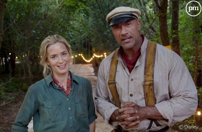 """Emily Blunt et Dwayne Johnson dans """"Jungle Cruise"""""""