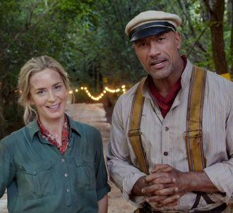 Emily Blunt et Dwayne Johnson dans 'Jungle Cruise'