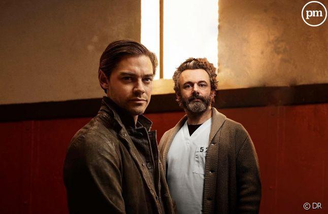 "Tom Payne et Michael Sheen dans ""Prodigal Son"""