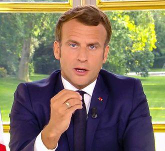 Emmanuel Macron lors de son allocution du 14 juin 2020.