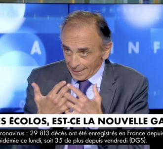 Eric Zemmour hostile aux écologistes sur CNews