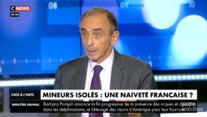 """""""Ils sont violeurs"""" : SOS Racisme porte plainte après des propos d'Eric Zemmour sur les mineurs isolés sur CNews"""