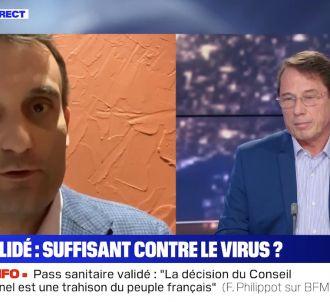 Tensions entre Florian Philippot et un médecin sur BFMTV