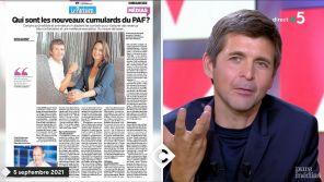 """""""Ca m'a énervé !"""" : Thomas Sotto s'en prend au """"Parisien"""" dans """"C à vous"""""""