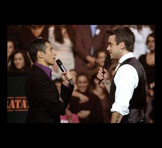 Nagui reçoit Robbie Williams dans 'Taratata' (diffusion...