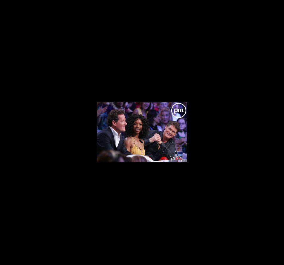 Piers Morgan, Brandy et David Hasselhoff, les trois juges d'America's Got Talent