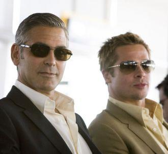 George Clooney et Brad Pitt dans 'Ocean's thirteen'