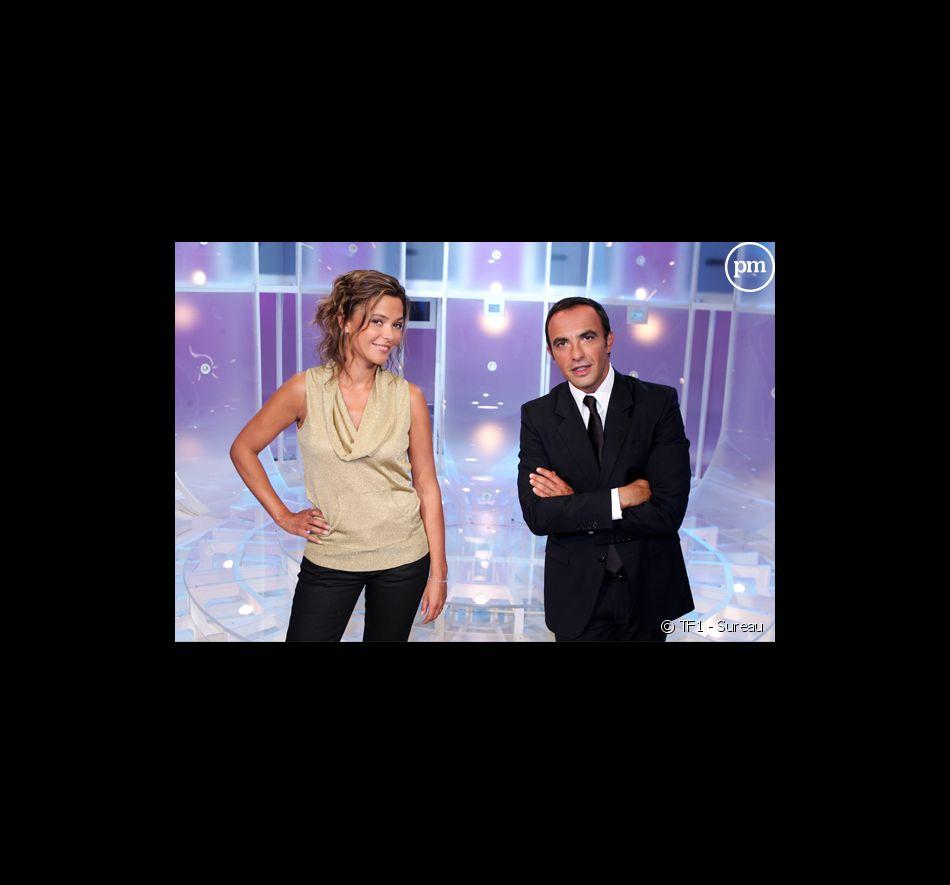 """Sandrine Quétier et Nikos Aliagas pour """"50mn inside""""."""